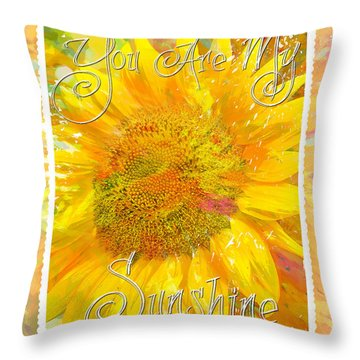 You Are My Sunshine 2 Throw Pillow