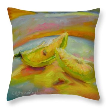 Throw Pillow featuring the painting You Are My Sunshine by Chris Brandley