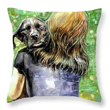 You Are Safe Throw Pillow