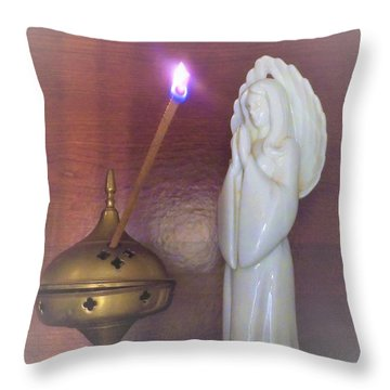 Throw Pillow featuring the photograph You Are The Light Of The World by Denise Fulmer