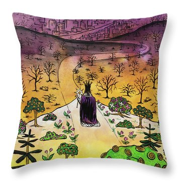 Throw Pillow featuring the painting You Are The Message by Nathan Rhoads