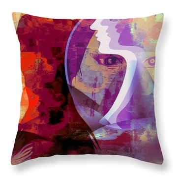 You Can Beat It Throw Pillow by Fania Simon