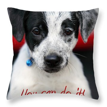 You Can Do It Throw Pillow by Amanda Barcon