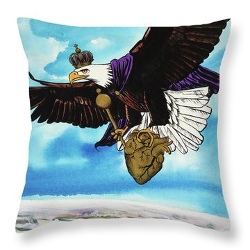 Throw Pillow featuring the painting You Can Soar by Nathan Rhoads