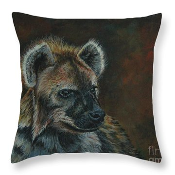 You Don't See Me Laughing......hyena Throw Pillow