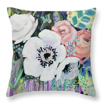 You Had Me At Hello Throw Pillow by Kristin Whitney