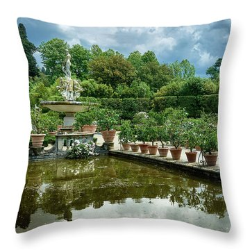 You Have Quite A Garden There Throw Pillow