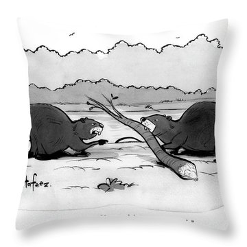 You Have Something Stuck Between Your Teeth Throw Pillow
