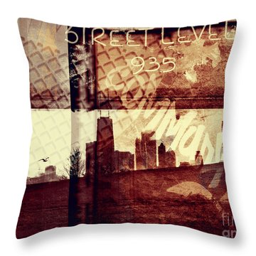 You Held My Hand Softly Through The Humid Summer Streets Throw Pillow by Dana DiPasquale