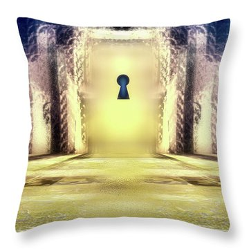 You Hold The Key Throw Pillow by Another Dimension Art