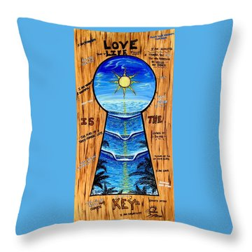You Hold The Keys Throw Pillow