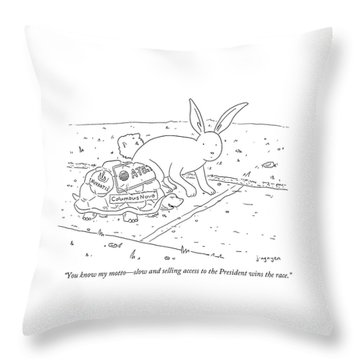 You Know My Motto Throw Pillow