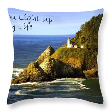 You Light Up My Life 1 Throw Pillow by Marty Koch