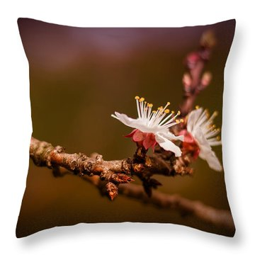 You Make Me Blossom Throw Pillow