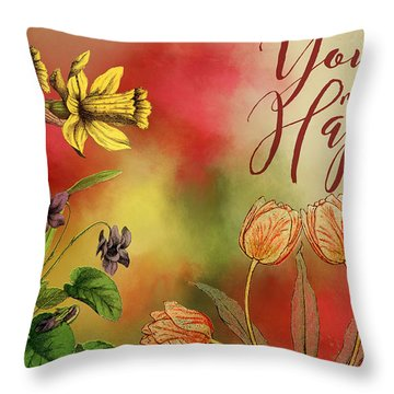 You Make Me Happy Throw Pillow by Diana Boyd