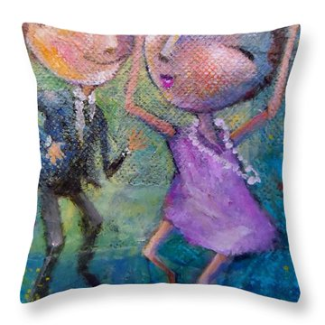 You Make Me Wanna Dance Throw Pillow by Eleatta Diver