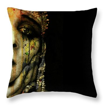 Throw Pillow featuring the mixed media You Never Got To Hear Those Violins by Paul Lovering