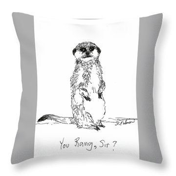 You Rang, Sir? Throw Pillow by Denise Fulmer