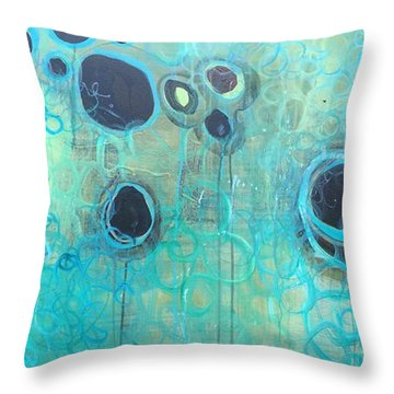 You Said You Wanted To Live By The Ocean Throw Pillow by Laurie Maves ART