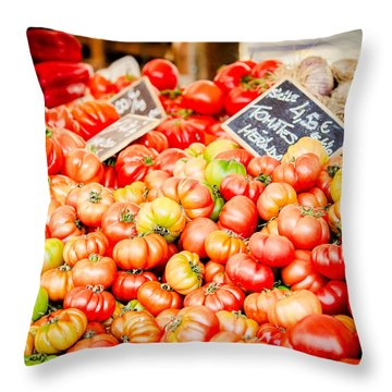 Throw Pillow featuring the photograph You Say Tomato by Jason Smith