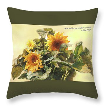 You Shall Love Your Neighbor As Yourself  Throw Pillow