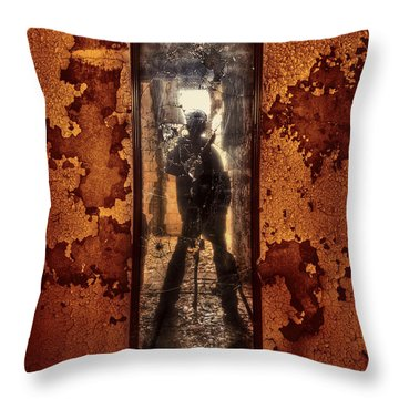 You Shot A Hole In My Soul Throw Pillow by Evelina Kremsdorf