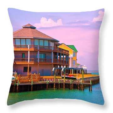 You Should See The Sunset Throw Pillow by Betsy Knapp