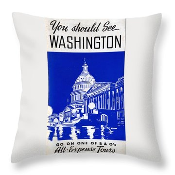 You Should See Washington Throw Pillow