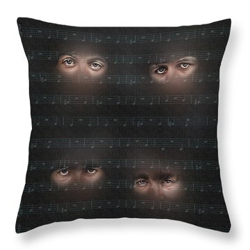You Won T See Me Throw Pillow by Pedro L Gili