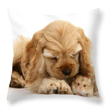 You'll Be Fine, Little Guy Throw Pillow