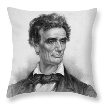 Young Abe Lincoln Throw Pillow