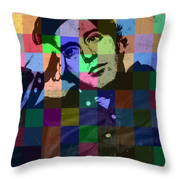 Young Al Pacino Actor Hollywood Pop Art Patchwork Portrait Pop Of Color Throw Pillow