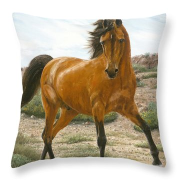 Young And Restless Throw Pillow by Doug Kreuger