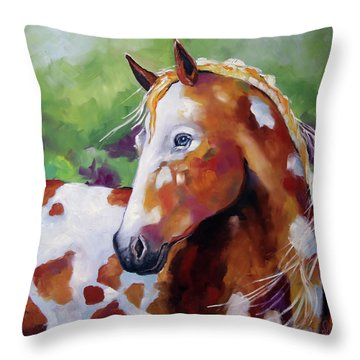 Young Appaloosa Throw Pillow