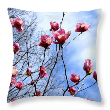 Young Blooms Throw Pillow