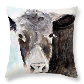 Young Bruno - Mud Face Throw Pillow