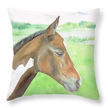 Young Cob Throw Pillow