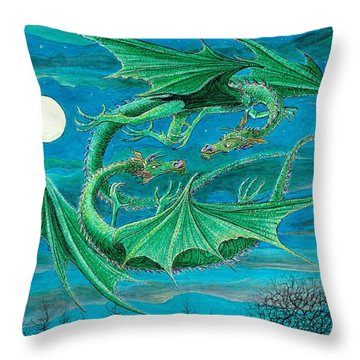 Young Dragons Frisk Throw Pillow