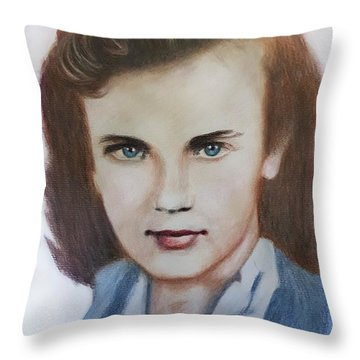 Young Elizabeth  Throw Pillow