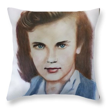 Young Elizabeth  Throw Pillow