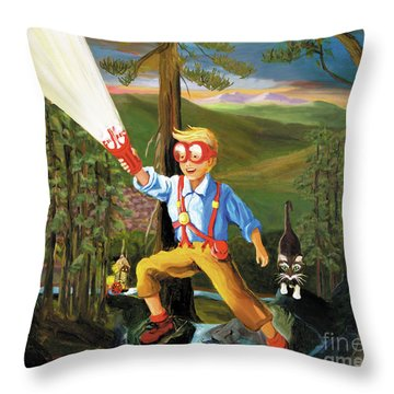 Young Explorer Throw Pillow