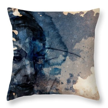 Throw Pillow featuring the mixed media Young Gifted And Black - Nina Simone  by Paul Lovering
