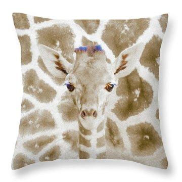 Young Giraffe Throw Pillow