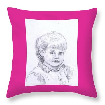 Young Girl Throw Pillow by Francine Heykoop