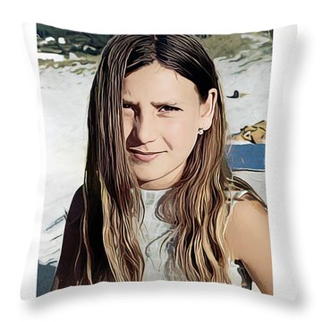 Young Girl, Spain Throw Pillow