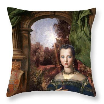 Young Isla Throw Pillow