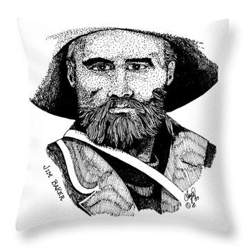 Young Jim Baker Throw Pillow