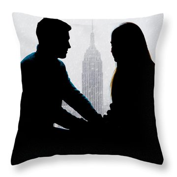 Throw Pillow featuring the photograph Young Love     by Chris Lord