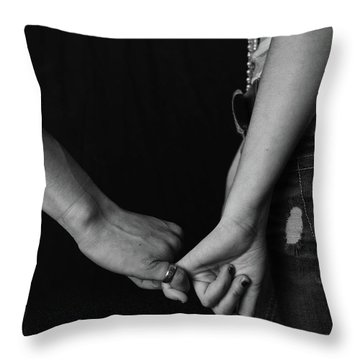 Young Love - Pinky Touch Throw Pillow by Scott Sawyer