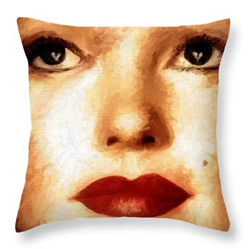 Throw Pillow featuring the painting Young M by James Shepherd